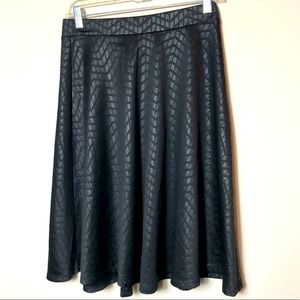 Faith and joy pleather patterned skirt